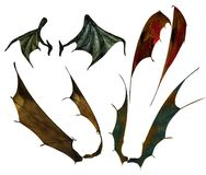 Demon wings 1 Royalty Free Stock Image