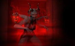 Demon woman Stock Photo