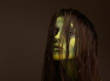 Demon zombie girl Royalty Free Stock Photos