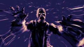 Demonattack med öppna armar illustration 3d Arkivfoton