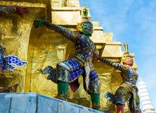 Demonbeschermer in Wat Phra Kaew - de Tempel van Emerald Buddha i royalty-vrije stock fotografie