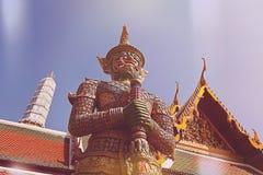 Demonbeschermer Wat Phra Kaew Grand Palace Royalty-vrije Stock Fotografie