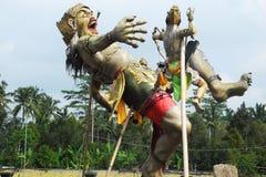 Demoncijfer voor Nieuwjaar Carnaval op Bali wordt gemaakt dat Royalty-vrije Stock Foto's