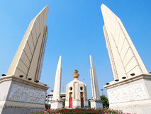 Demoncracy monument stand under blue sky. Demoncracy monument in Thailand stands under blue clear sky Royalty Free Stock Images