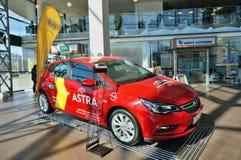 Demonctration van Opel Astra Stock Fotografie