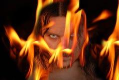 Demone ardente Immagine Stock