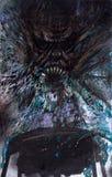 Demone di grido Fotografia Stock