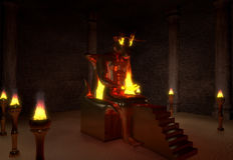 Demone di Moloch Illustrazione di Stock