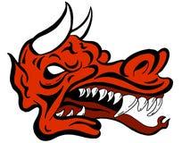Demone Dragon Face Creature Fotografie Stock Libere da Diritti
