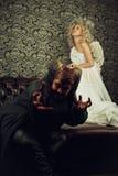 Demone ed angelo Immagini Stock Libere da Diritti