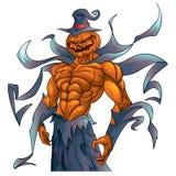 Demone Halloween della zucca Immagine Stock