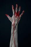 Demone sanguinoso dello zombie della mano Fotografie Stock Libere da Diritti