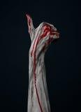 Demone sanguinoso dello zombie della mano Fotografia Stock