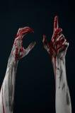Demone sanguinoso dello zombie della mano Immagini Stock
