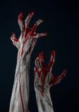Demone sanguinoso dello zombie della mano Immagini Stock Libere da Diritti