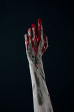 Demone sanguinoso dello zombie della mano Immagine Stock