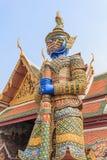 Demonförmyndare på Wat Phra Kaew Arkivbild
