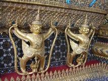 Demonförmyndare, Wat Phra Keaw, Bangkok, Thailand Arkivbild