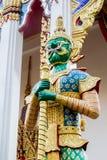 Demonförmyndare Wat Sriburaparam Palace Trat Royaltyfria Bilder