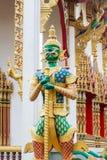 Demonförmyndare Wat Sriburaparam Palace Trat Arkivbild
