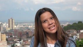 Demonic Girl Making Evil Face. Stock photo of a teen girl Stock Image