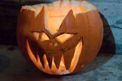 Demonic Halloweenowa bania Dyniowy fest, Budapest 2015 Obraz Stock
