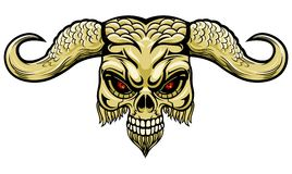 Demonic horn vector illustration