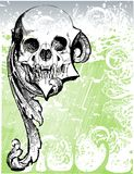Demonic skull illustration Royalty Free Stock Photo