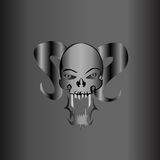 Demonic Skull Silver Matte Royalty Free Stock Images