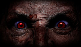 Demonic ugly face. Scary dark demonic ugly face Royalty Free Stock Image
