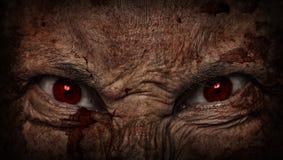 Demonic ugly face. Scary dark demonic ugly face Royalty Free Stock Photos