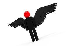 demonio con alas Fotografía de archivo