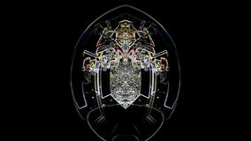Demonio del baile, fondo místico ilustración del vector
