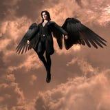 Demonio en el cielo stock de ilustración