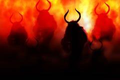 Demonio en infierno Fotos de archivo libres de regalías