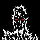 Demonisch monstergezicht met scherpe doornen Vector illustratie royalty-vrije illustratie