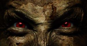 Demoniskt fult vänder mot Arkivbilder