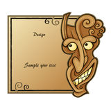 Demonmaskeringsram Stock Illustrationer