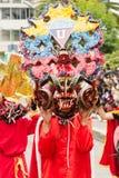 Demonnen Rood Kostuum Stock Afbeelding