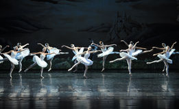 Demons hidden in the Swan Group-ballet Swan Lake. In December 20, 2014, Russia's St Petersburg Ballet Theater in Jiangxi Nanchang performing ballet Swan Lake Royalty Free Stock Images