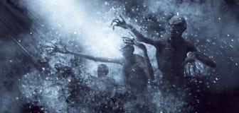 Demons Monsters 3D Illustration. 3D Illustration of a demons monsters in the rays of light Royalty Free Illustration