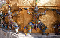 Demons Statues in Wat Phra Kaeo - Bangkok Royalty Free Stock Photo