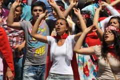 demonsration nacjonalisty turkish zdjęcia royalty free