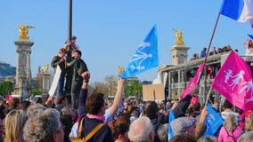 Demonstartion degli oppositori di matrimonio gay Immagini Stock Libere da Diritti