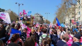 Demonstartion degli oppositori di matrimonio gay Fotografia Stock Libera da Diritti