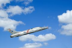 Demonstração aérea do jato foto de stock royalty free