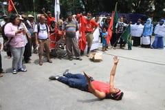 Demonstração anticorrupção Fotos de Stock Royalty Free