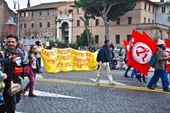 Demonstração comunista em Roma, Italy Fotografia de Stock