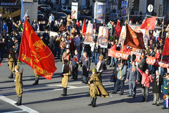 Demonstração comunista no dia da vitória Imagem de Stock