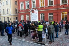 Demonstration against new coalition of government of Latvia